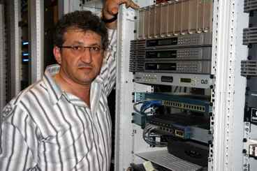 Issam Abaza With Junger Audio Equipment