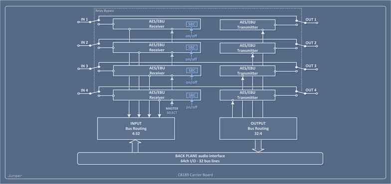 C8189 AES/EBU (BNC) Processing Block Diagram