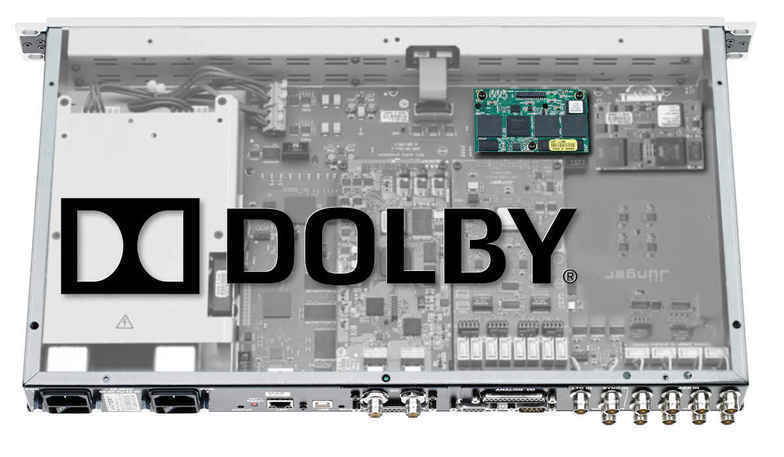 D*AP8 unit equipped with Dolby® option board