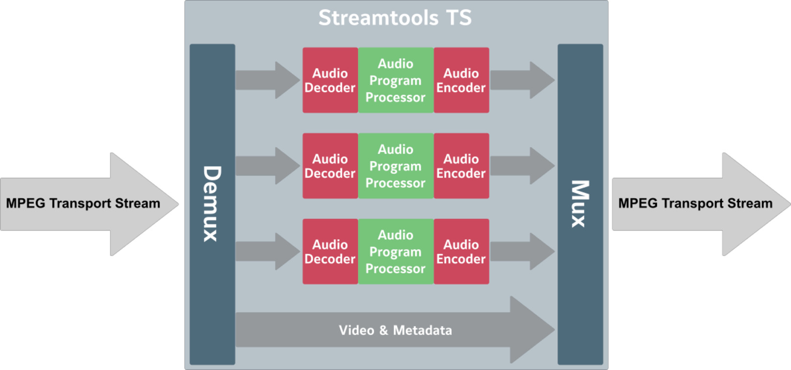 Streamtools TS - MPEG TS Audio Processor - flexAI - Jünger Audio