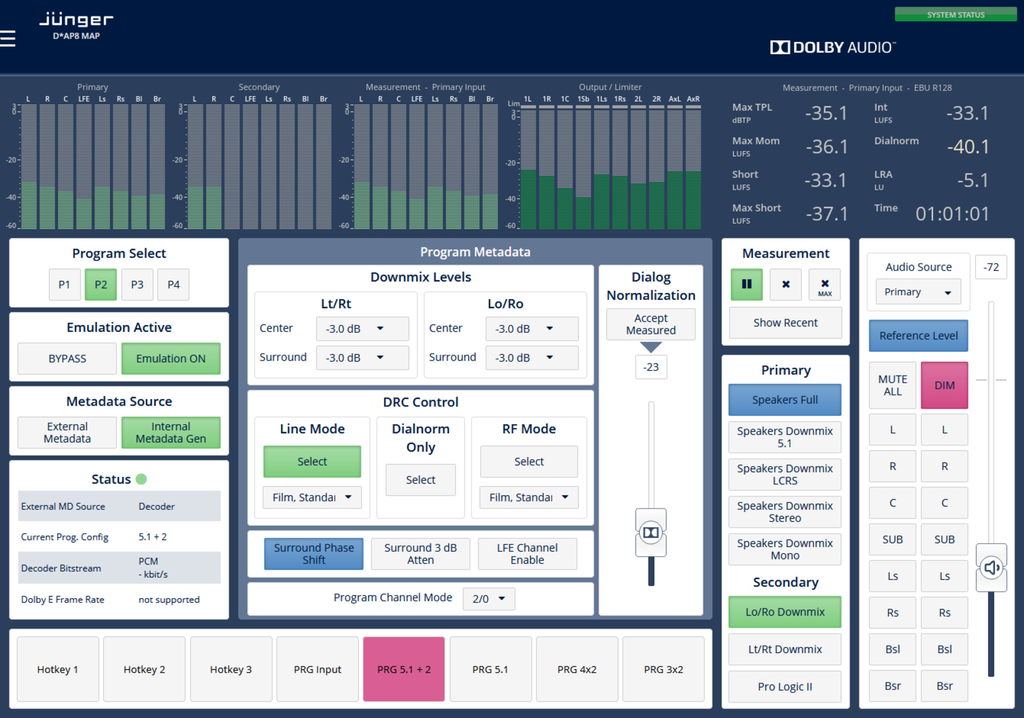 8 Channel Surround Monitoring Audio Processor - D*AP8 MAP